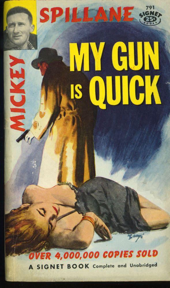 Vtg Pulp Book Novel My Gun is Quick by Mickey Spillane Signet 1957