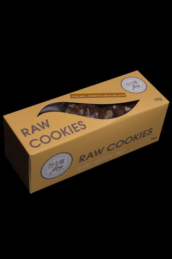 Raw Cookies Cacao + White Chocolate, Raw Vegan, Clean Eating, Bio
