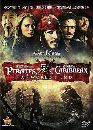 The Pirates of the Caribbean [PN1995.9.P49 P573 2007] Captain Barbossa, Will Turner and Elizabeth Swann must sail off the edge of the map, navigate treachery and betrayal, and make their final alliances for one last decisive battle. Director:Gore Verbinski Writers:Ted Elliott, Terry Rossio, Stars:Johnny Depp, Geoffrey Rush, Orlando Bloom
