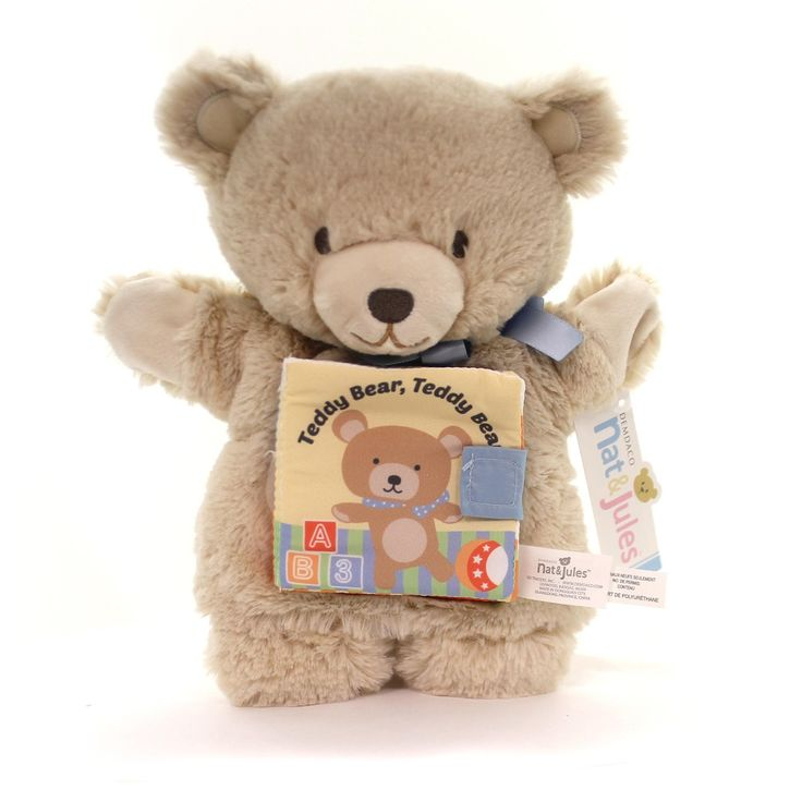 Plush Teddy Bear, Teddy Bear Puppet Book Plush