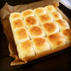 手捏ねでも簡単*ふんわり甘いちぎりパン*