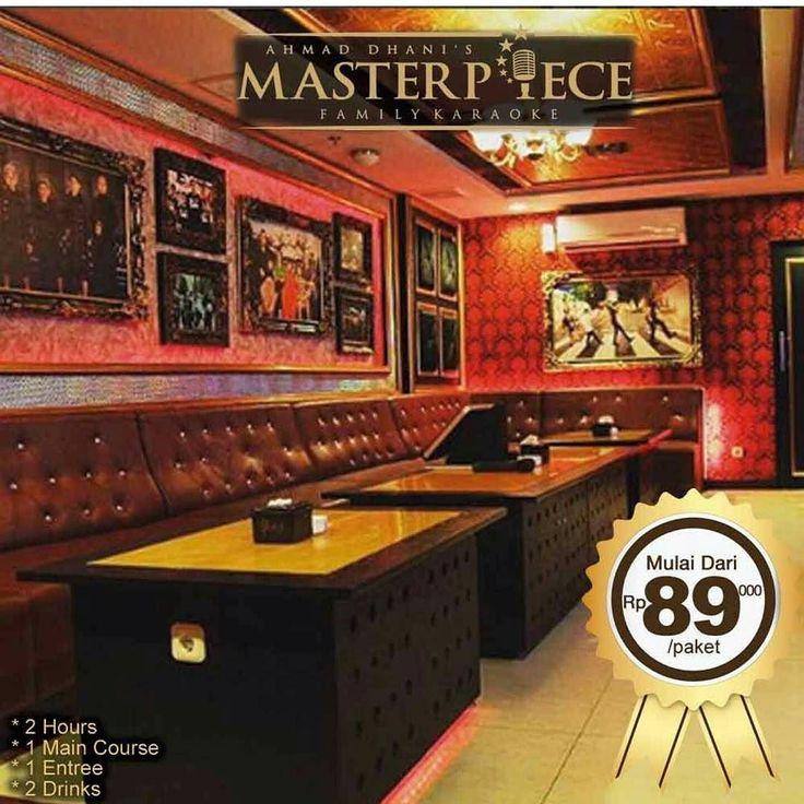 Paket Happy Hours Masterpiece juga kini tersedia di GoDeal (hanya weekday) paket Happy Hours mulai dari 11:00-17:00 Senin s/d Jumat. Tetapi paket satu ini aga berbeda karena selain nyanyi juga bisa buat kenyang loh.. Hanya Rp. 89.000- termasuk: 2 Hours Room 1 Main Course 1 Entree Soft Drink Pitcher . Main Course = Ayam Bumbu Taliwang / Ayam Bumbu Rempah / Nasi Soto / Nasi Capcay / Mie Goreng / Nasi Goreng Entree = Sayap Sayap Patah / 4 Sejoli / Martabak Siti Nurbaya / Tofu Selimut Hati…