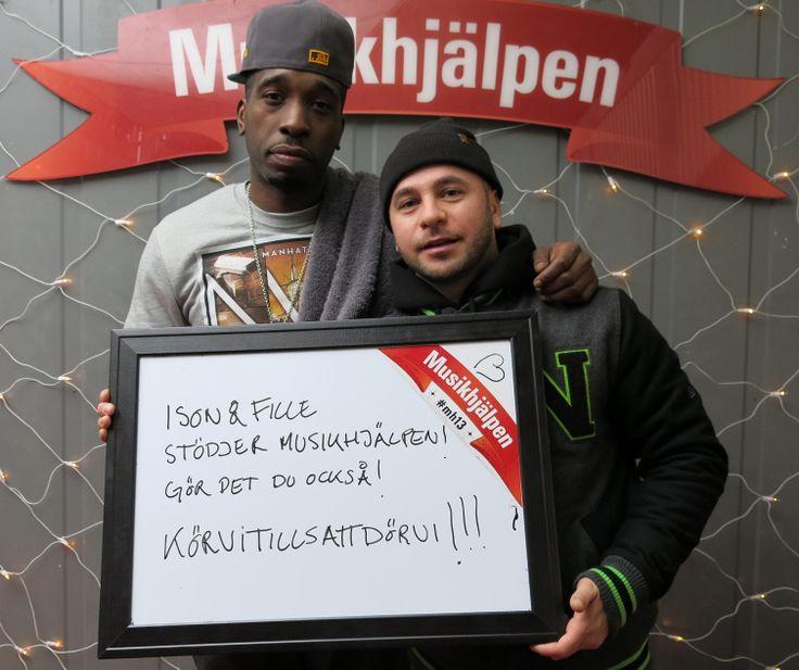 Ison&Fille visar sitt stöd för #mh13 /Robert