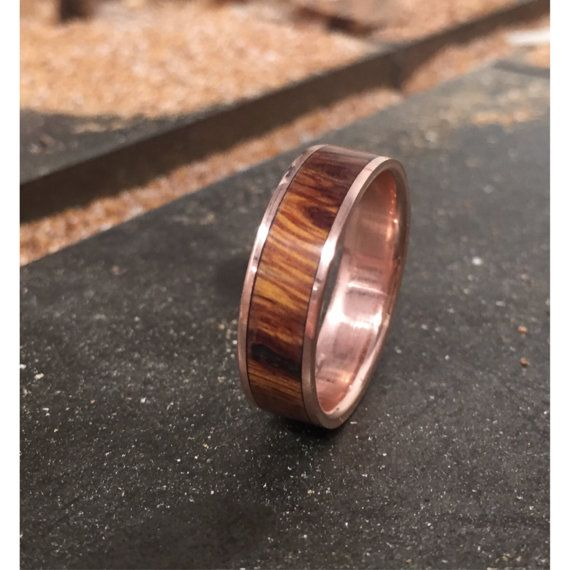 Hey, I found this really awesome Etsy listing at https://www.etsy.com/listing/236551760/rose-gold-mens-wedding-band-wood-ring