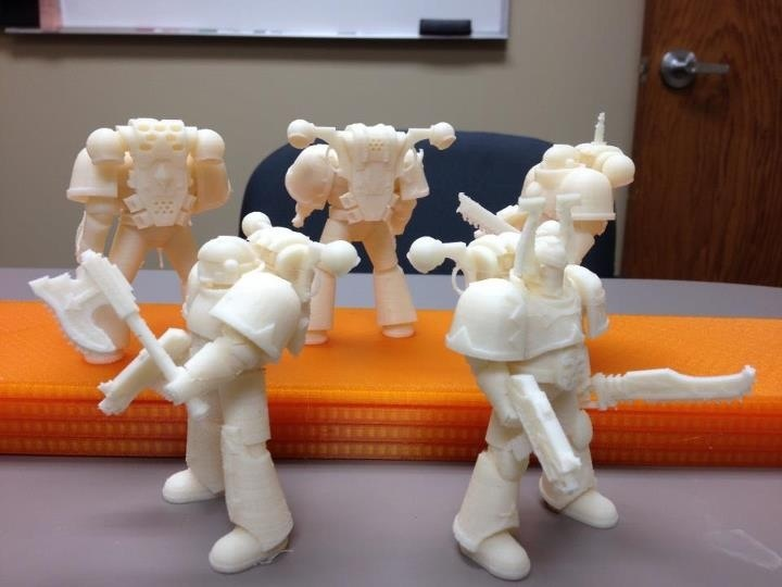 ABS FDM 3D Printed soldiers from a Stratasys Mojo