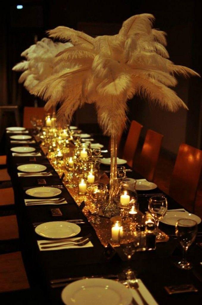 Great Gatsby themed birthday party via Kara's Party Ideas KarasPartyIdeas.com Cakes, printables, favors, desserts, and MORE! #thegreatgatsby #adultbirthdayparty #karasoartyideas (12)
