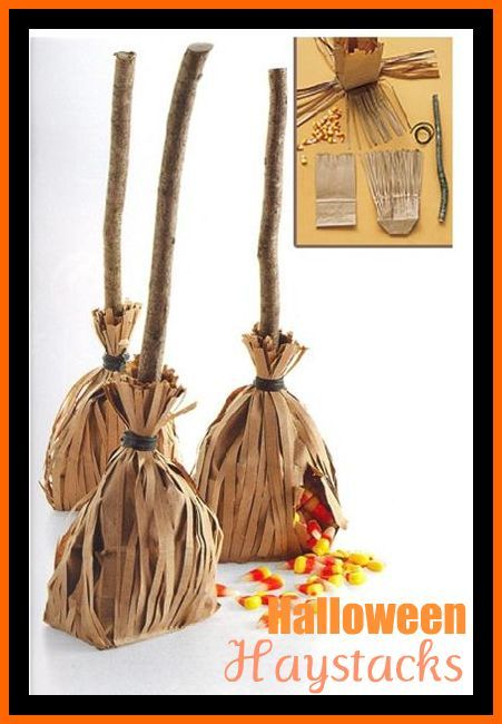 halloween: Halloween Treat Bags, Candy Bags, Brown Paper Bags, Halloween Party Favors, Candy Corn, Halloween Parties Favors, Halloween Ideas, Bags Ideas, Halloween Favors