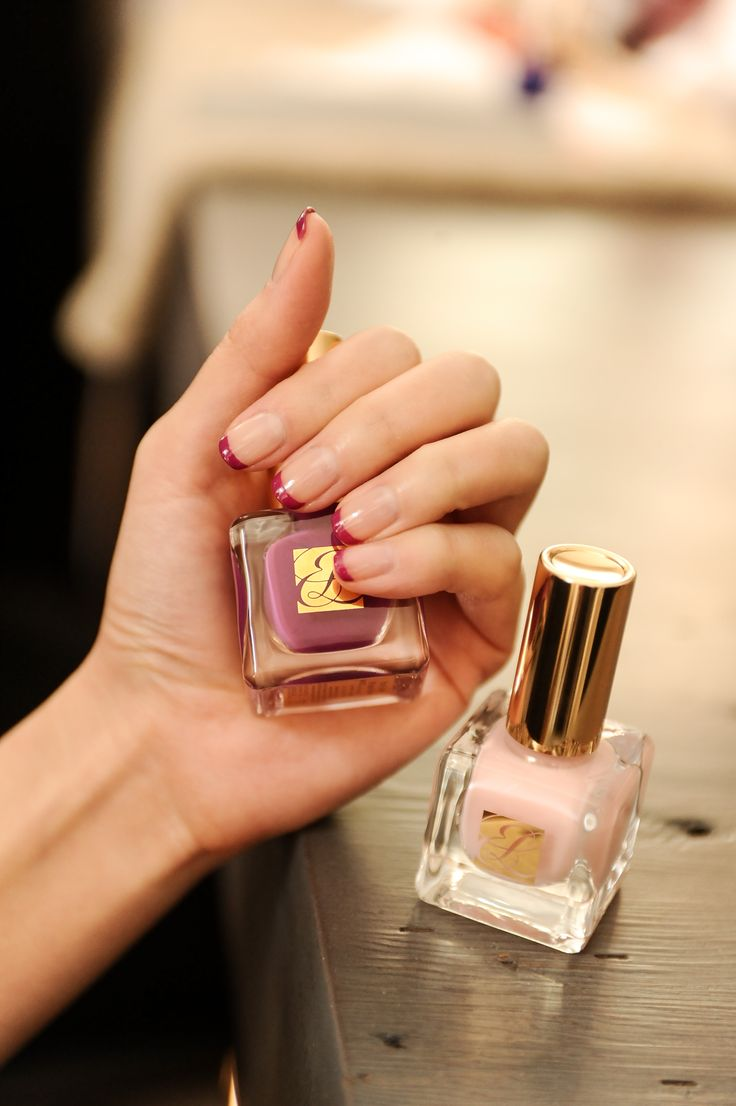 Behind the scenes of our Purple Tips mani #beautygarage