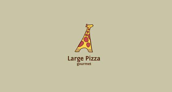 Large Pizza, 35 logos de restaurantes para inpirarse