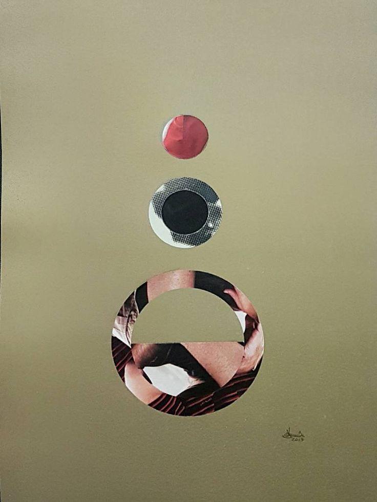 "Saatchi Art Artist Richard Brandão; Collage, ""CIRCLES Nº 023"" #art"