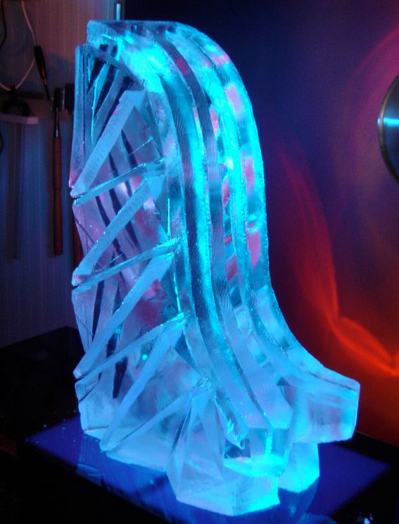 A classic ski jump ice luge, this one has a double luge which helps if you are looking to do lots of shots!