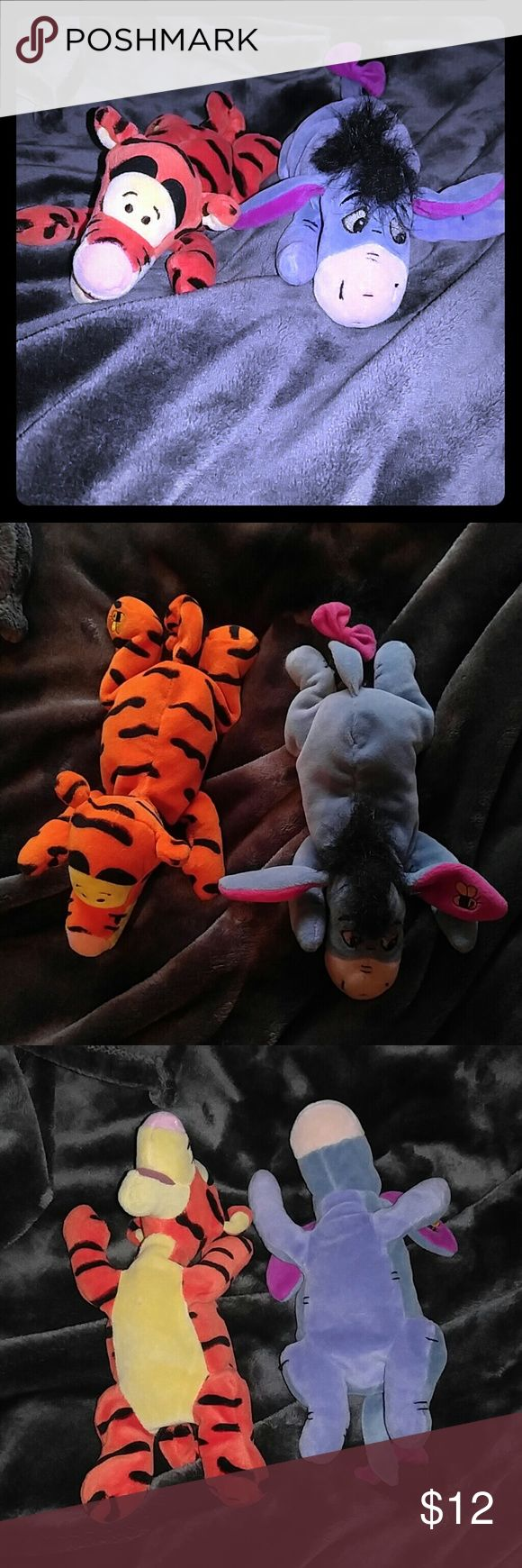 Tigger and Eeyore Disney Store plushies Disney store Tigger & Eeyore plushies, clean, excellent condition. The size of Beanie Babies. Smoke free home. Disney Other