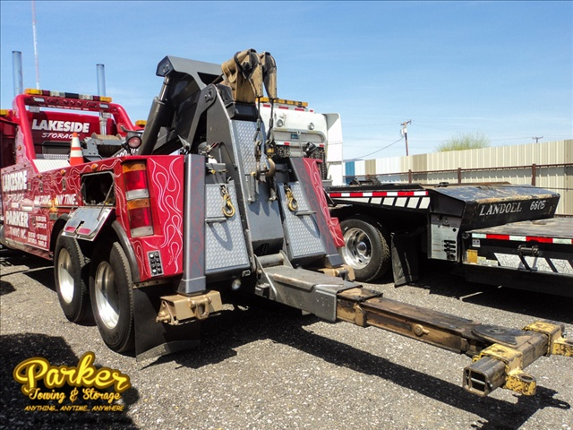 Flatbed Truck from Lakeside Towing, operated by Parker Towing and Storage.