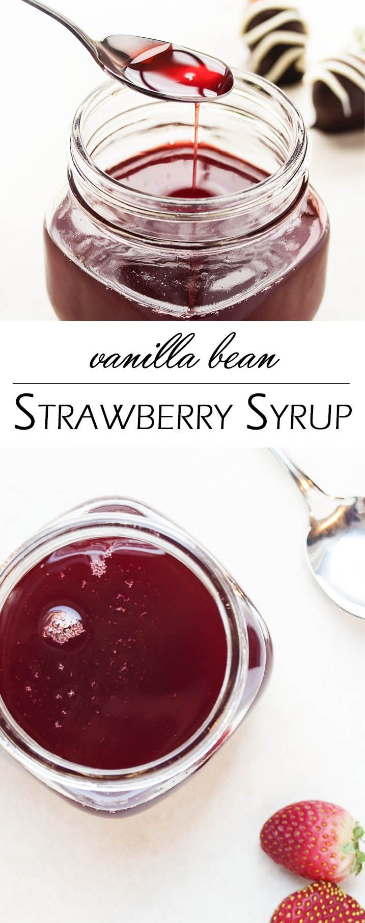 Strawberry Vanilla Bean Syrup - This strawberry vanilla syrup is full ...