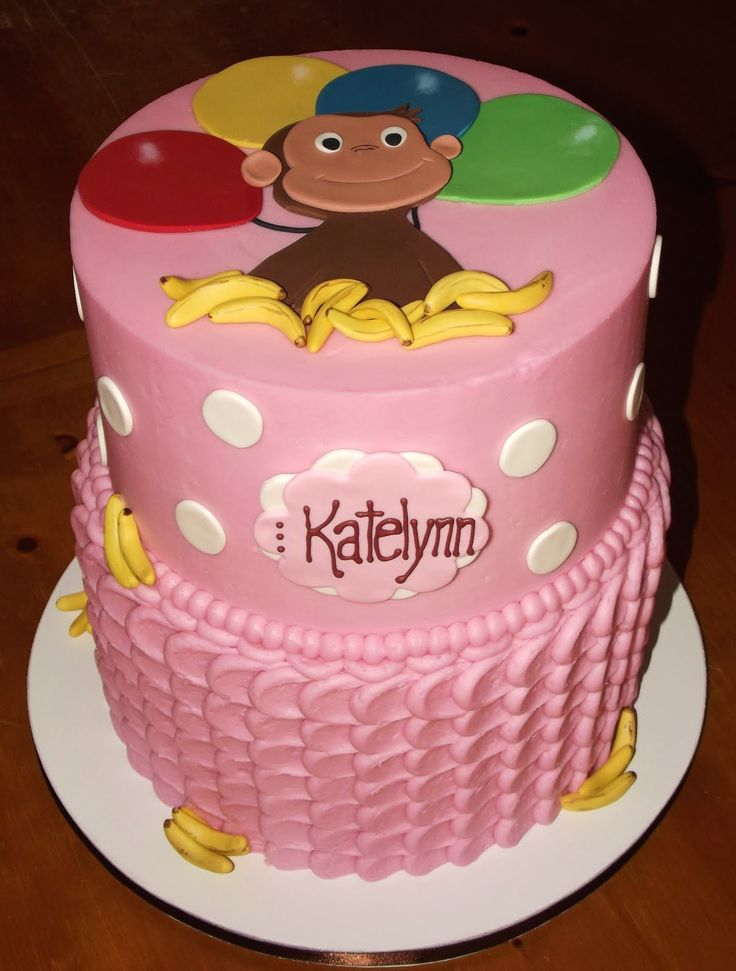 curious george birthday cake for girls - Google Search