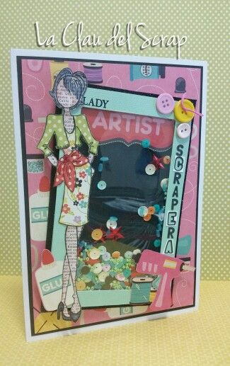 Julie Nutting prima doll Natalie Shaker card