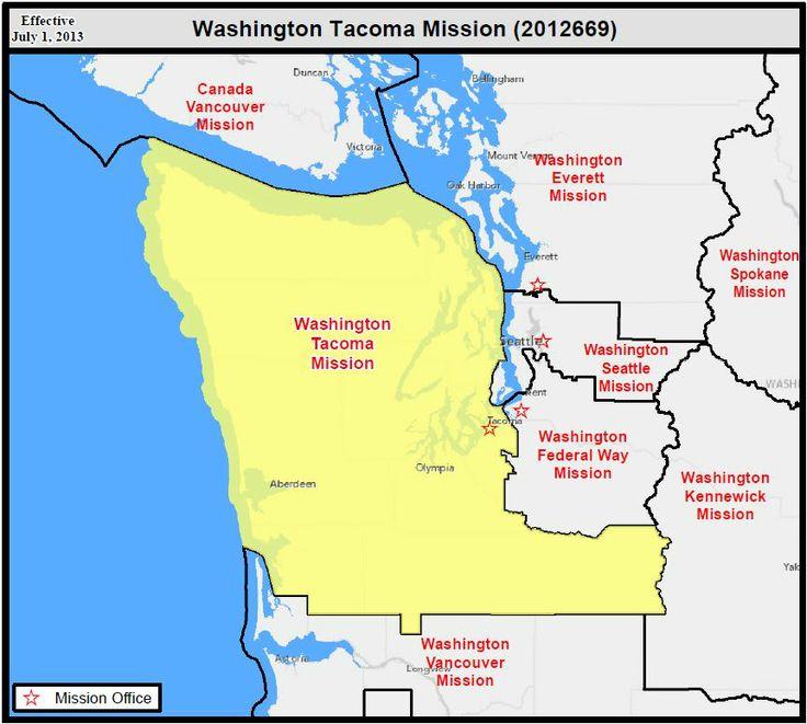 Tacoma Washington Lds Mission Boundaries Google Search