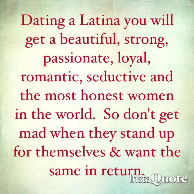 Dating a latina girl