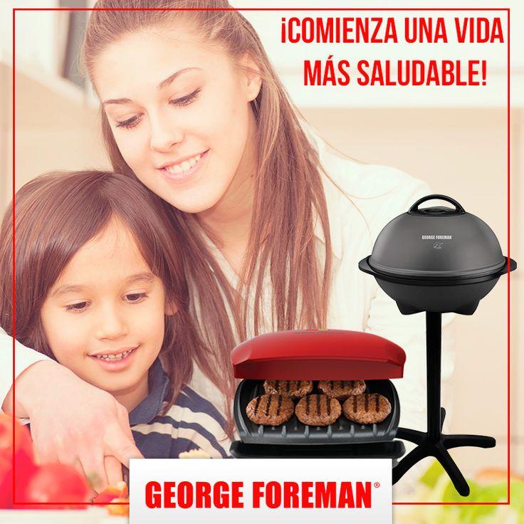 Las parrillas George Foreman cuentan con la patente George Tough, recubrimiento que le resta hasta 42 % la grasa a tus alimentos aun sin utilizar aceite o algún otro producto. :)