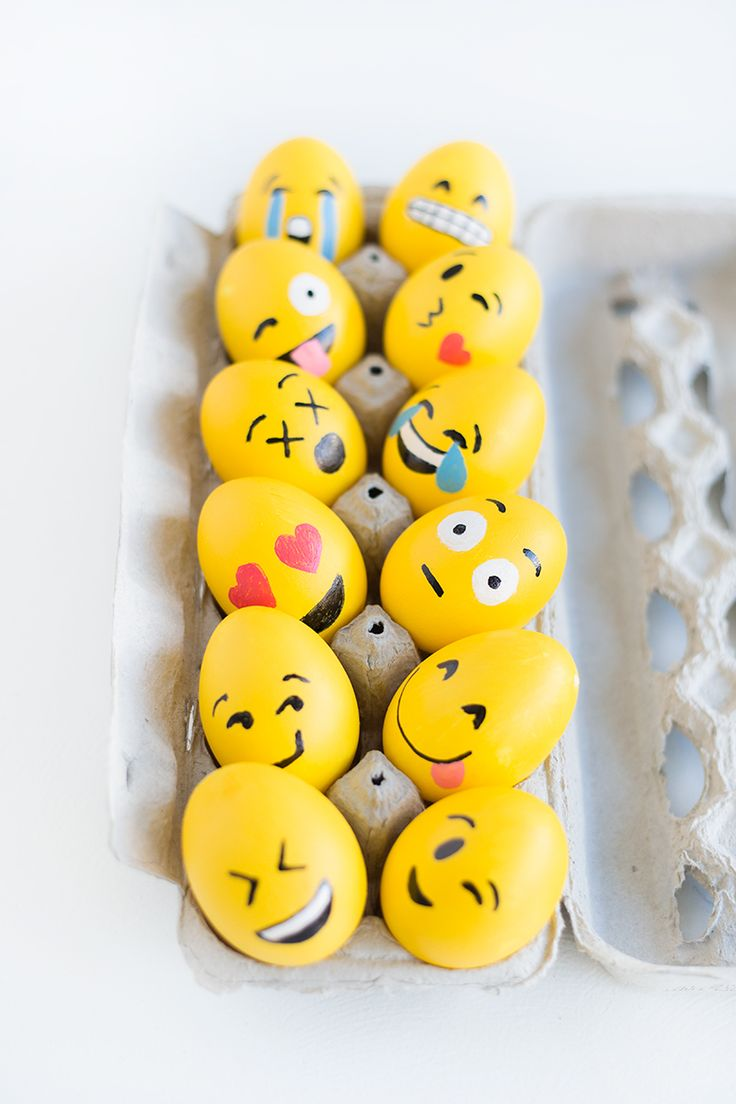 DIY Emoji Easter Eggs - LOVE THESE!!