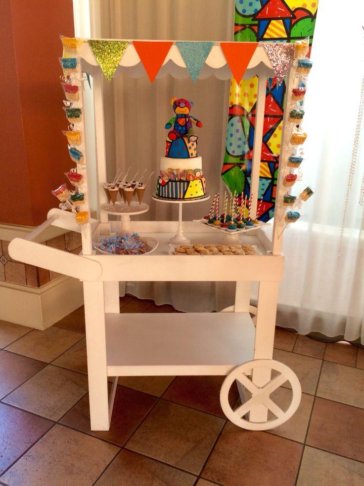 Romero Britto dessert cart