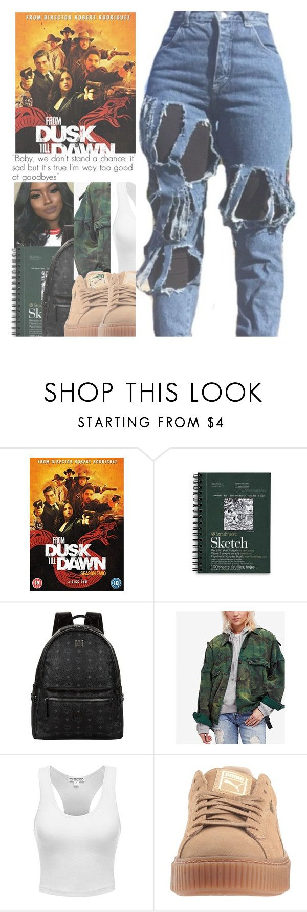 """""""SHOW : FROM DUSK TILL DAWN 2/3"""" by w-on-der-lan-d ❤ liked on Polyvore featuring MCM, Free People, netflix, fromdusktilldawn and richardgecko"""