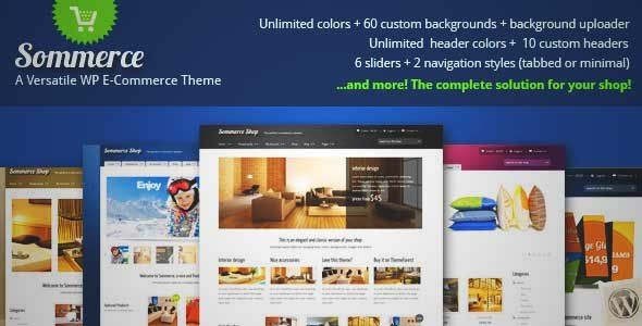 Download and review of Sommerce Shop - A Versatile E-commerce Theme, one of the best Themeforest eCommerces themes {Download & review at|Review and download at} {|-> }http://best-wordpress-theme.net/sommerce-shop-a-versatile-e-commerce-download-review/