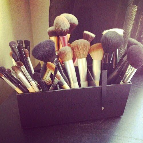 Brushes. Collection. So many.