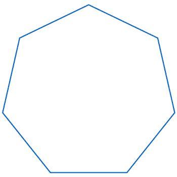 Curva di Koch: ettagono con iterazione pentagonale