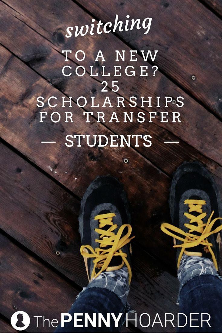 Switching schools can be complicated -- and pricey. But these universities offer scholarships for transfer students that can help cover your costs. Four of them even cover FULL tuition! - The Penny Hoarder http://www.thepennyhoarder.com/college-scholarships-for-transfer-students/
