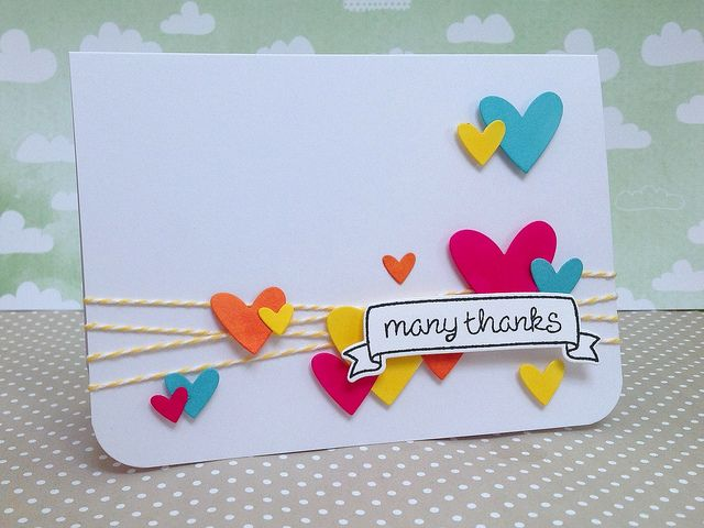 Fun colors and design by Fiona _ Lawn Fawn - Hearts Lawn Cuts dies, Home Sweet Home _ Flickr - Photo Sharing!