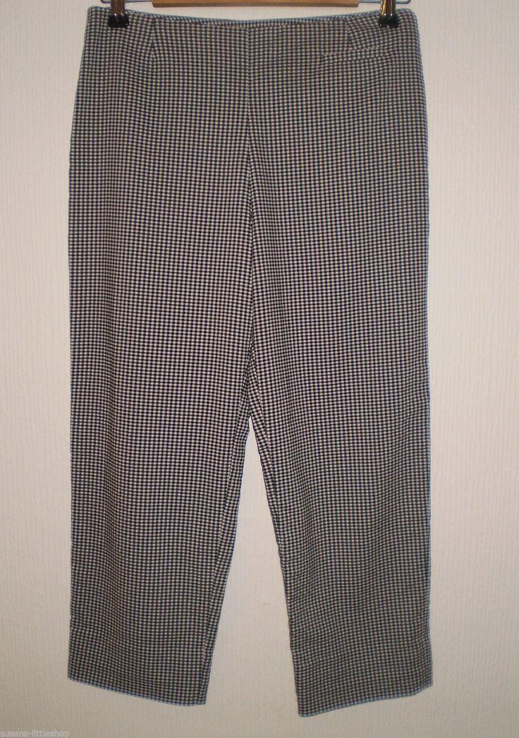 Casual Club Debenhams Black and White Check Cropped Capri Trouser Size 12