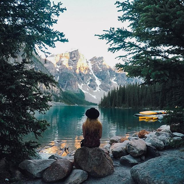 """Photo of the Day! @lauranceeg embarked on a solo adventure and in her words it """"was an incredible experience...I'm proud I did it."""" We are proud of you too! #GoPro #GoProGirl #ExploreAlberta"""