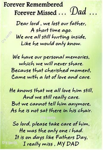 In loving memory/card/keepsake/Grave/dad/daddy/grandad fathers day/Birthday