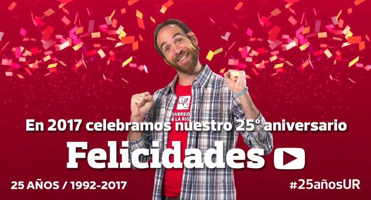 Este año cumplimos #25AñosUR y vamos a celebrarlo contigo: empezamos con #EduardoSáenzdeCabezón, ¿te unes? #Felicidades #unirioja #25Años #2017
