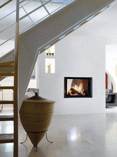 Fondis Ulys 900 double sided wood insert stove