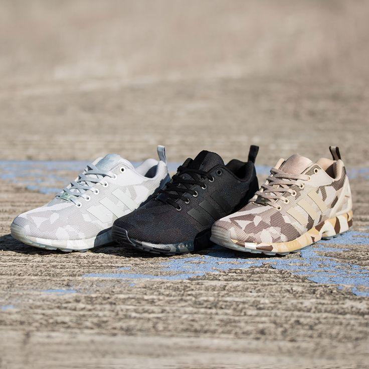 The popular ZX flux gets an upgrade. The adidas Originals ZX Flux Camo Trainer available now.