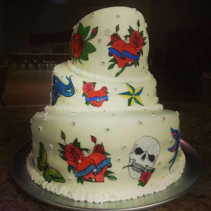 tattoo wedding cake 66 best my cakes quot sweetweets quot images on 20764