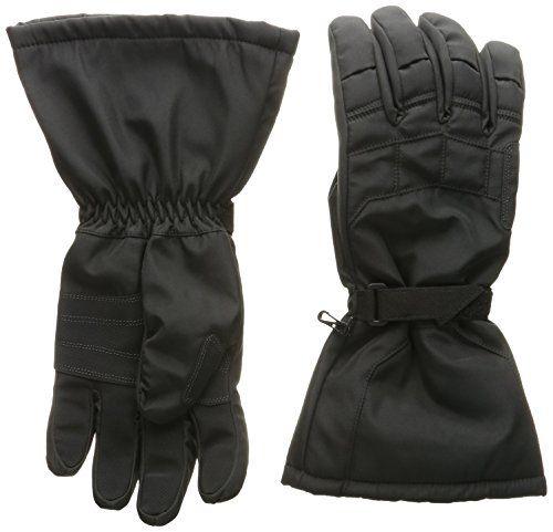 Joe Rocket Sub-Zero Men's Cold Weather Motorcycle Riding Gloves (Black/Black, Large)