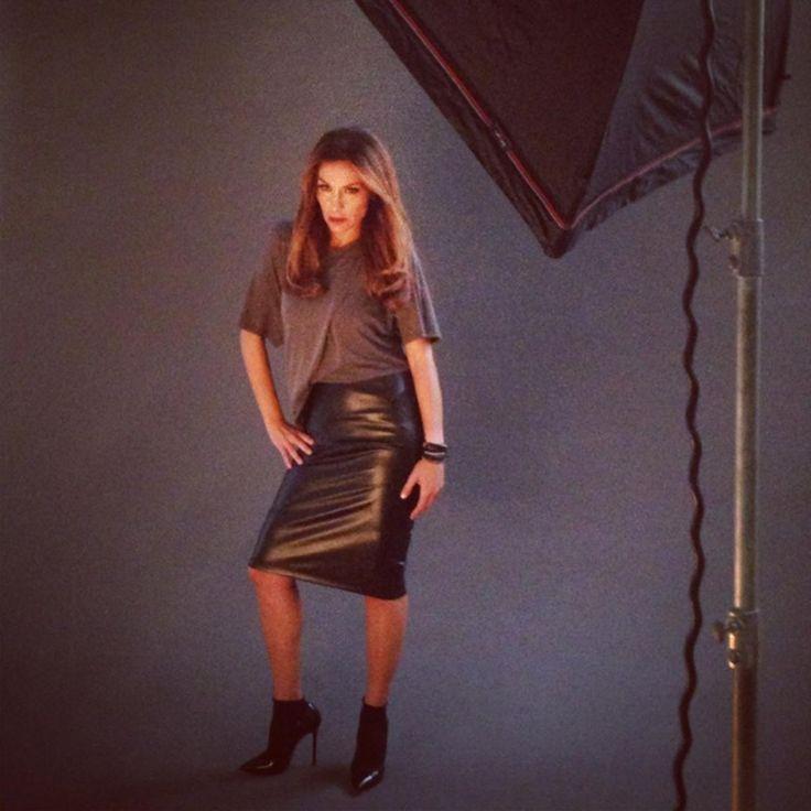"""Despina Vandi shooting """"Despina Vandi for Chip"""" collection fall/winter 2013/2014."""