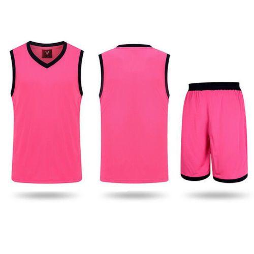 $12.55---2-piece-Boy-men-Basketball-Clothes-suit-set-vest-shorts-loose-Sports-wear-Outfit