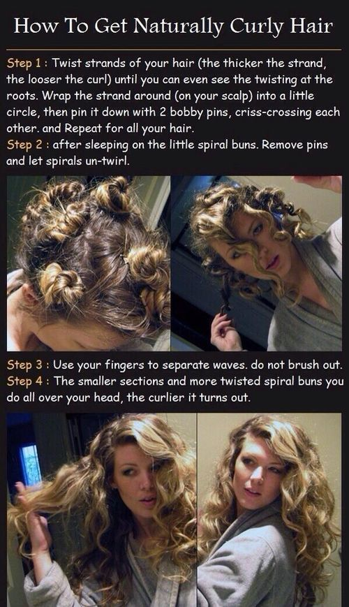 How to get naturally curly hair...