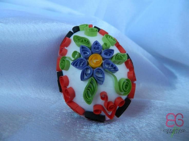 Ou decorativ cu quilling   Decoratiuni de Paste
