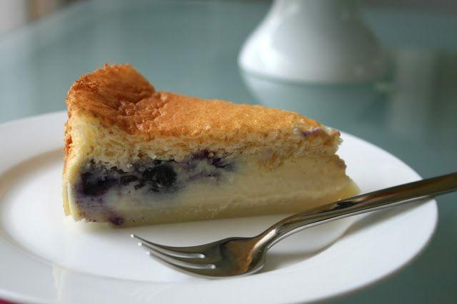 Magische taart met bosbessen en citroen (3 lagen)