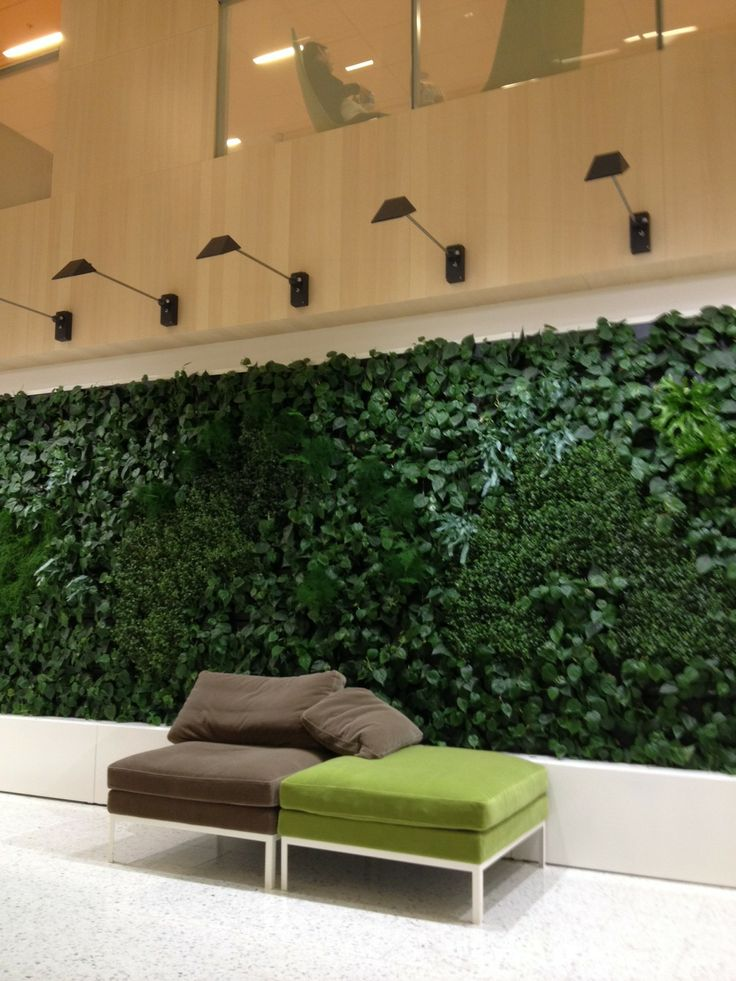 Skanska's new HQ in Stockholm: green wall Picture: Skanska Kodit