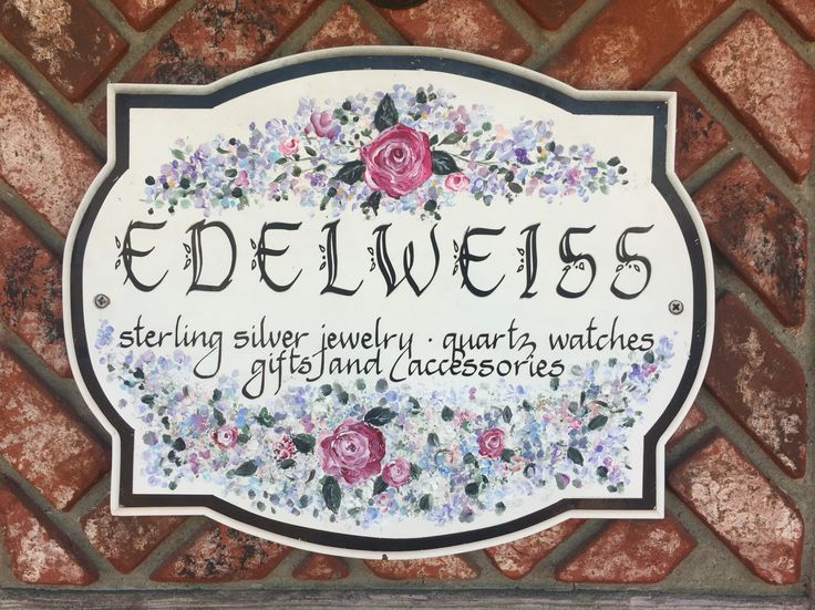 Solvang- 130 miles from Los Angeles.  A Danish style (architecture) city in Santa Barbara County, CA.  Edelweiss, a small souvenir and jewelry store in the heart of Solvang.