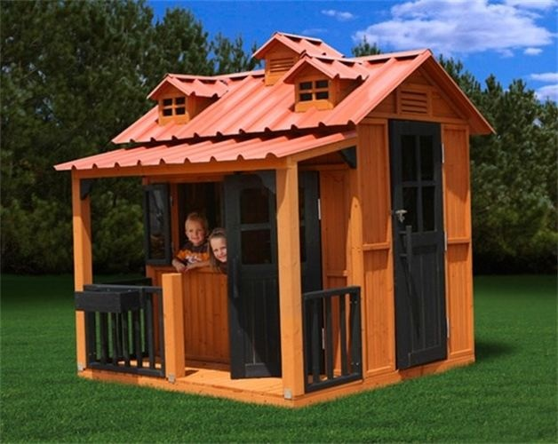Breckenridge playhouse 1700 our biggest playhouse for Front porch roof kits