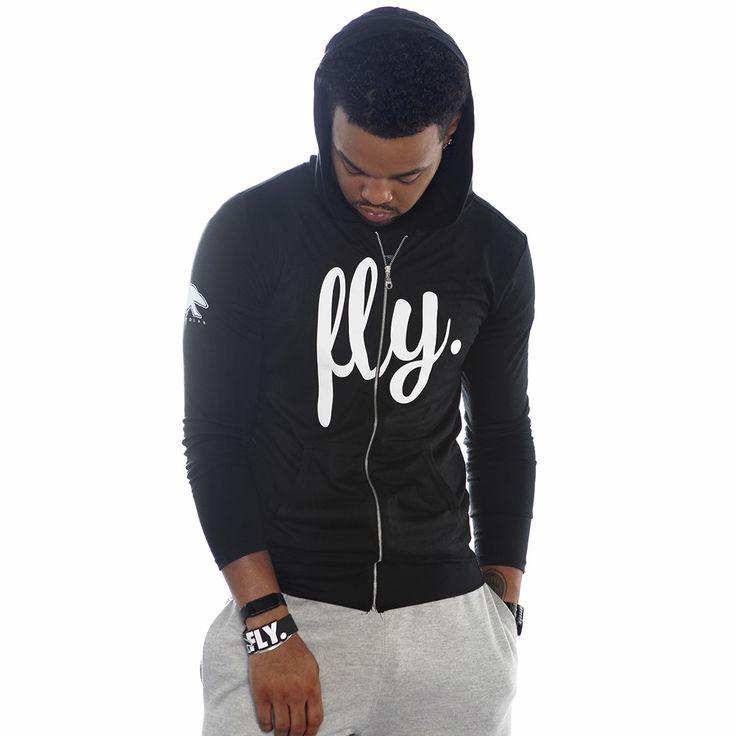 FLY. Lifestyle Zip-Up Hoodie - Black