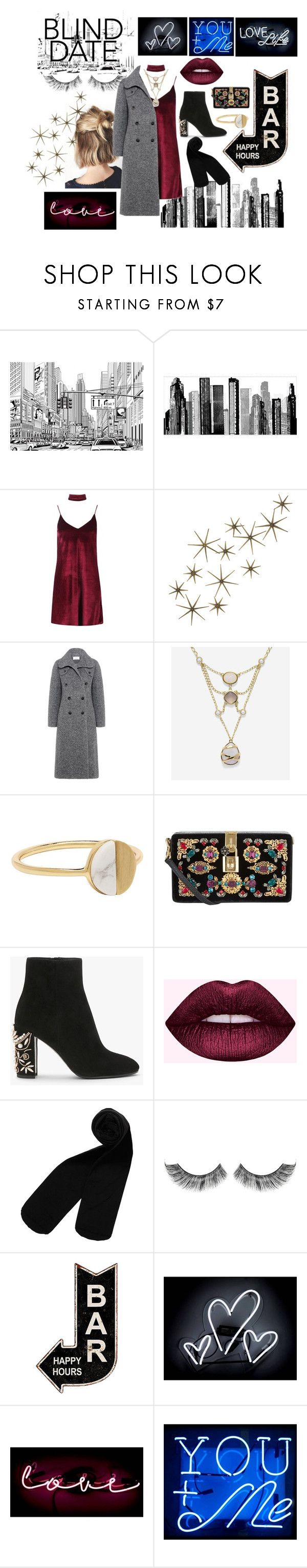 """""""love is blind"""" by suchajocundcompany ❤ liked on Polyvore featuring RoomMates Decor, Boohoo, Global Views, Carven, Cole Haan, Witchery, Dolce&Gabbana, Monki, Oliver Gal Artist Co. and DateNight"""