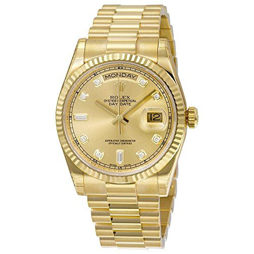 Rolex Men's 118238 Day-Date Analog Automatic 18kt Yellow Gold Watch https://www.carrywatches.com/product/rolex-mens-118238-day-date-analog-automatic-18kt-yellow-gold-watch/ Rolex Men's 118238 Day-Date Analog Automatic 18kt Yellow Gold Watch  #diamondwatchesformen #mensdiamondwatches #rolexwatchesformen More diamond watches : https://www.carrywatches.com/tag/diamond-watches/